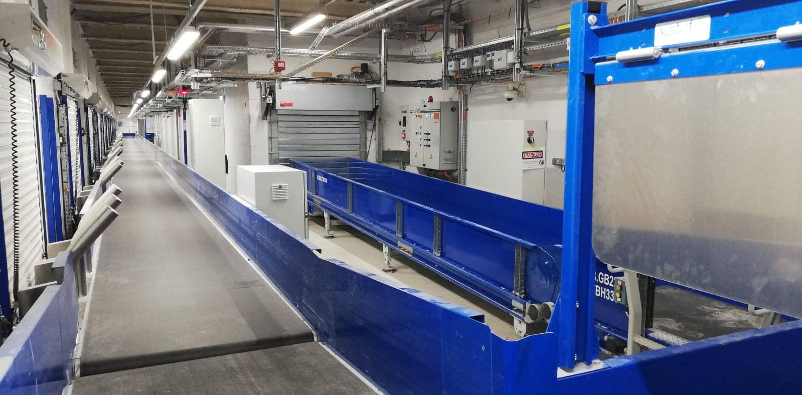 système de tri bagage BHS Baggage handling system